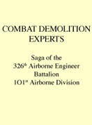 COMBAT DEMOLITION EXPERTS [FR]